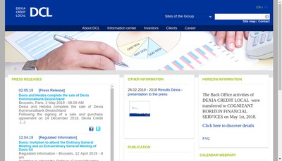 Site internet de Dexia Public Finance Bank-Dpfb