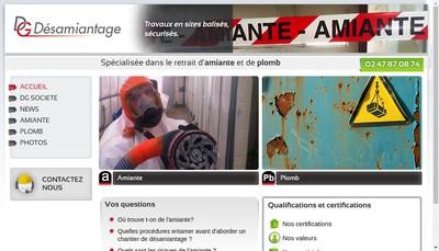 Site internet de Dg Desamiantage
