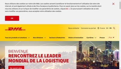 Site internet de Dhl International Express (France)