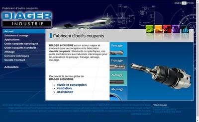 Site internet de Diager Industrie