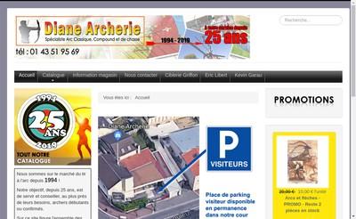 Site internet de Diane Archerie