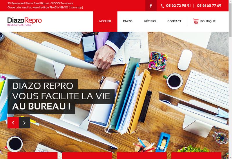 Capture d'écran du site de Diazo Service