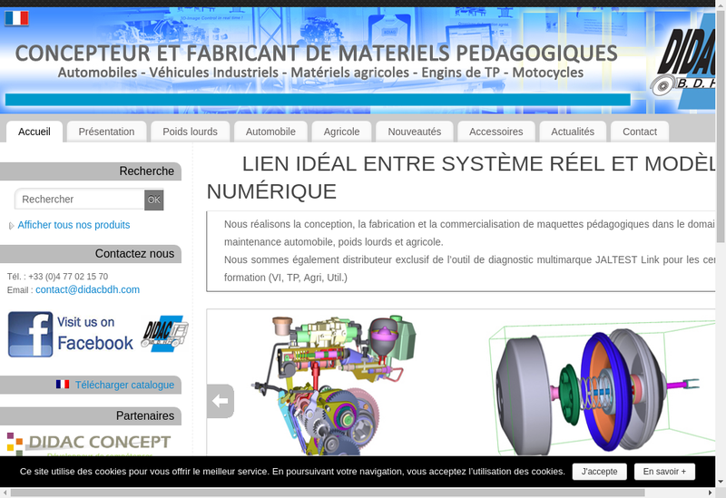 Capture d'écran du site de Didac Bdh