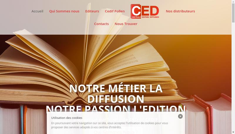 Capture d'écran du site de Centrale Editions Diffusion