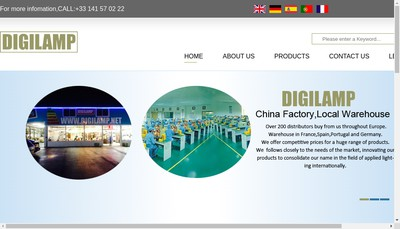 Site internet de Digilamp Led
