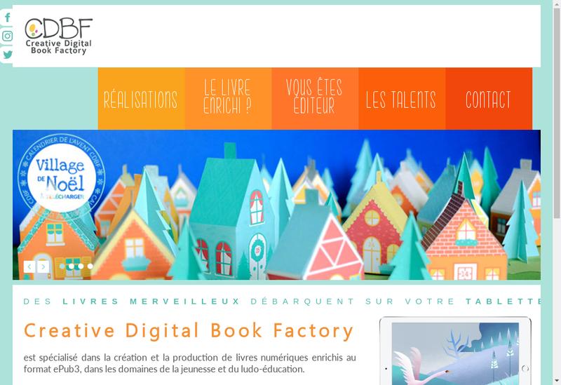 Capture d'écran du site de CDBF