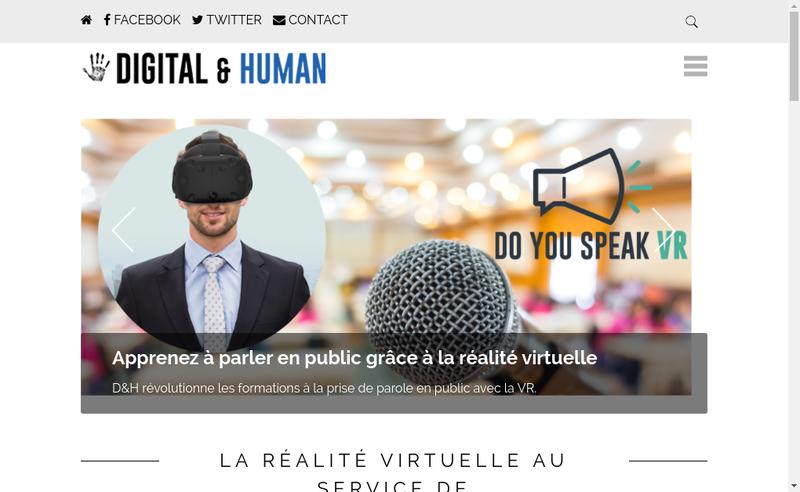Capture d'écran du site de Digital And Human