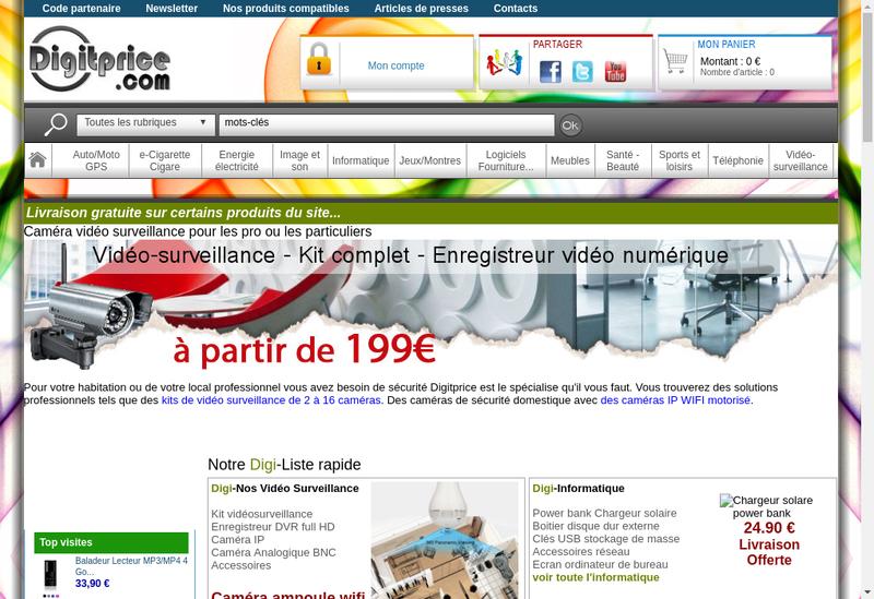 Capture d'écran du site de Digitprice