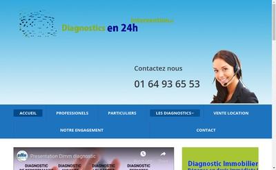 Site internet de Dimm Diagnostic Immo