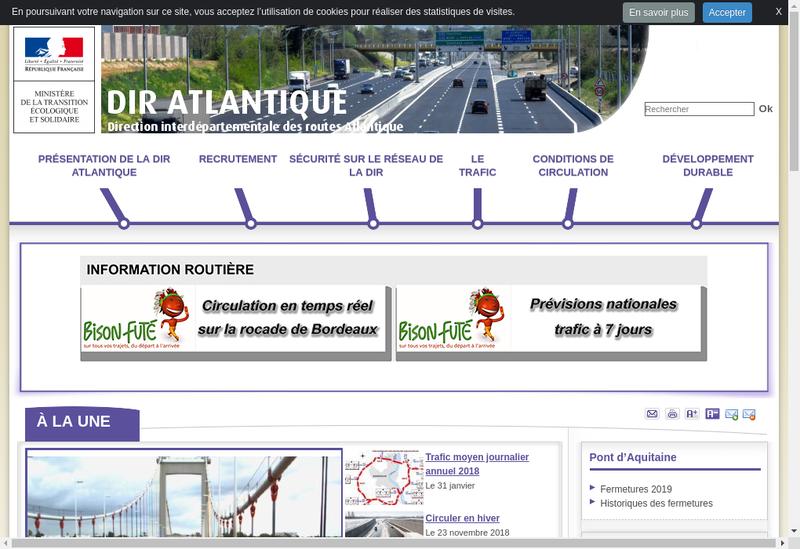 Capture d'écran du site de Ouest Atlantique Developpement