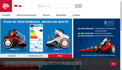 Capture d'écran du site de Tti Floor Care France