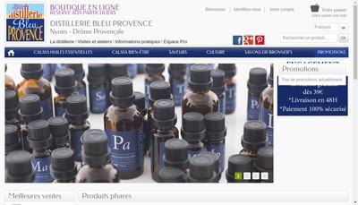 Site internet de Distillerie Bleu Provence