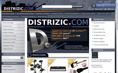 Site internet de Distrizic