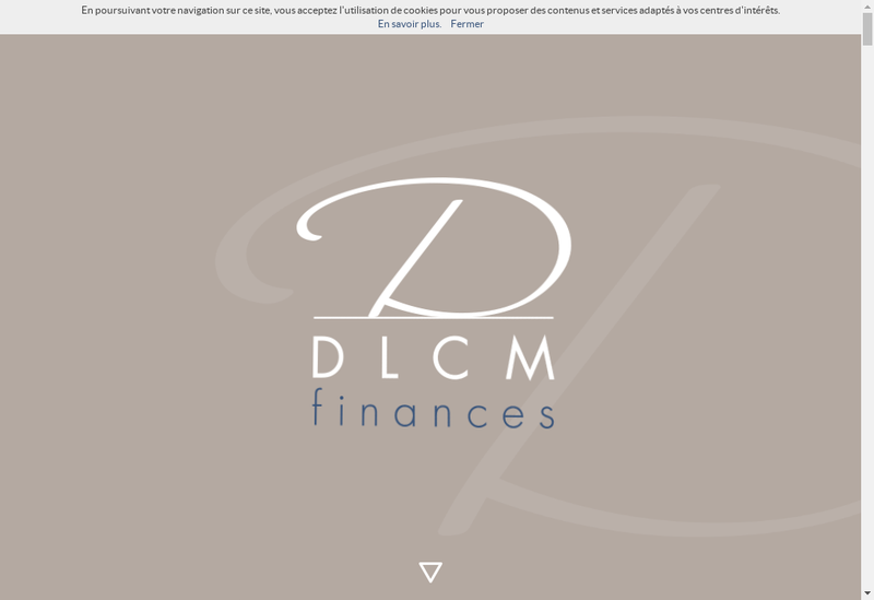 Capture d'écran du site de Dlcm Finances