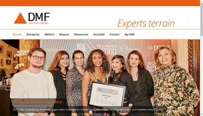 Site internet de DMF Sales & Marketing