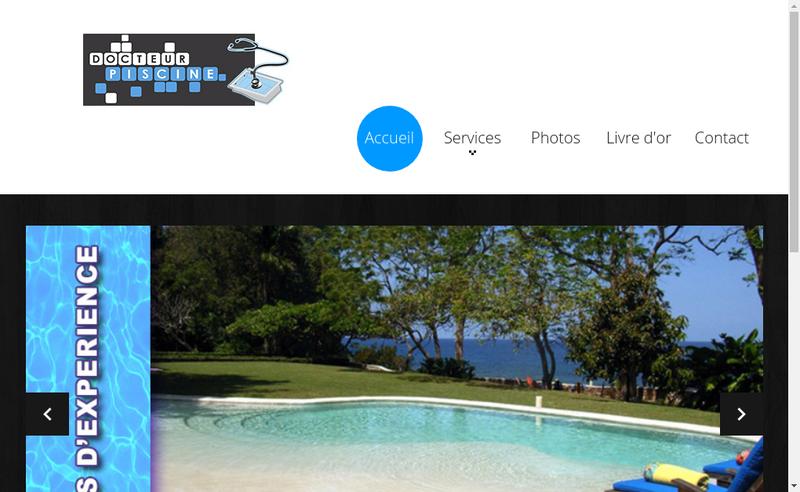 Site internet de Docteur Piscine