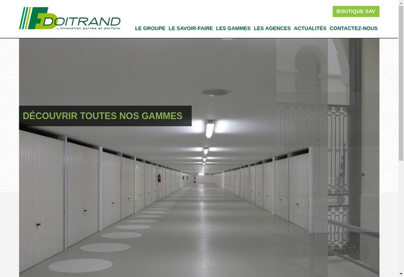 Capture d'écran du site de Etablissements Doitrand