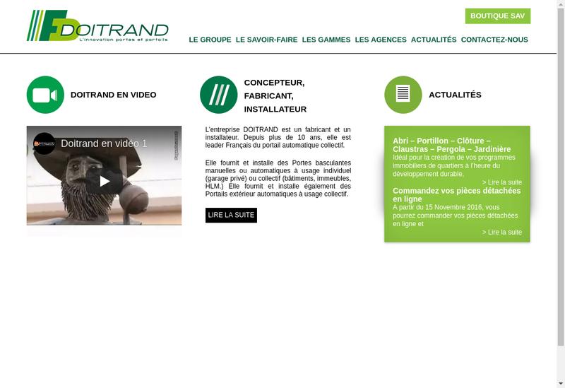 Capture d'écran du site de Portalux