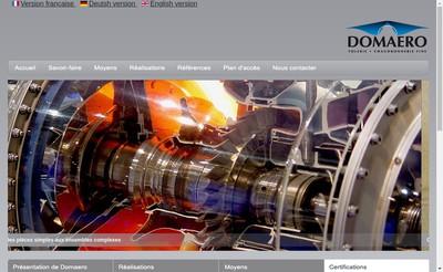 Site internet de Domaero