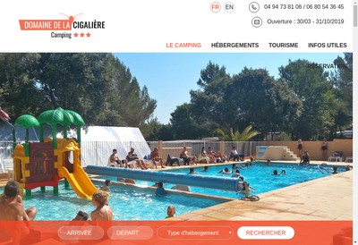 Site internet de Camping la Colle
