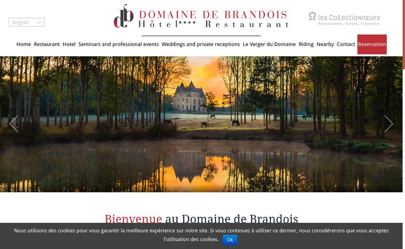 Capture d'écran du site de Domaine de Brandois