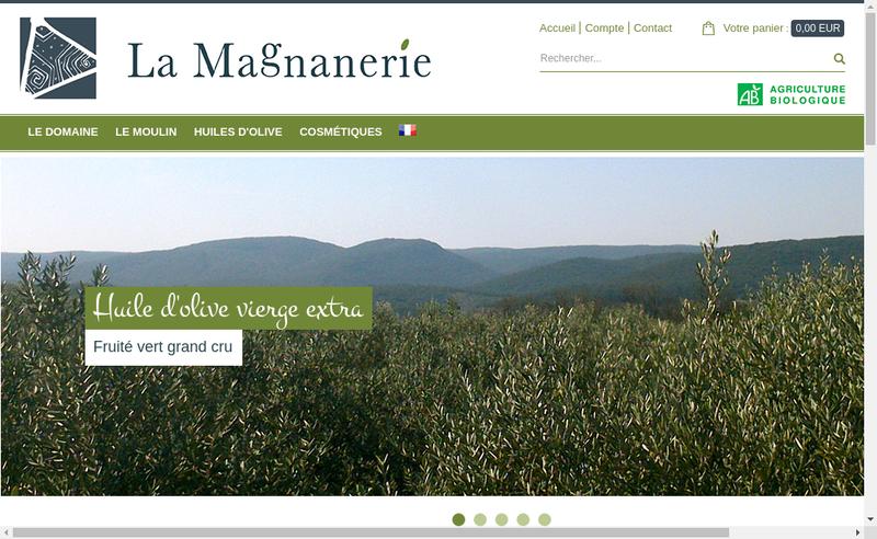 Capture d'écran du site de Moulin a Huile la Magnanerie