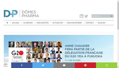 Site internet de Domes Pharma