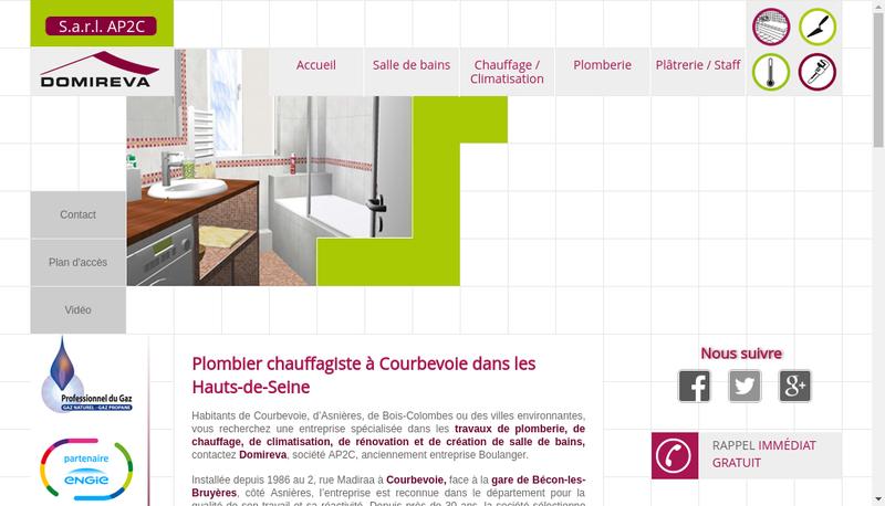 Capture d'écran du site de Domireva-Entreprise Boulanger