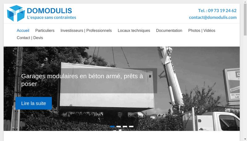 Capture d'écran du site de Domodulis