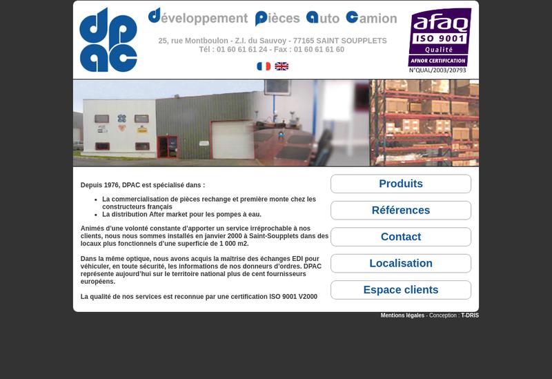 Capture d'écran du site de Chouet