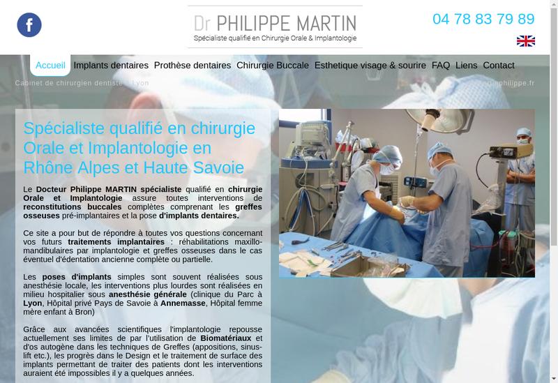 Capture d'écran du site de Docteur Philippe Martin