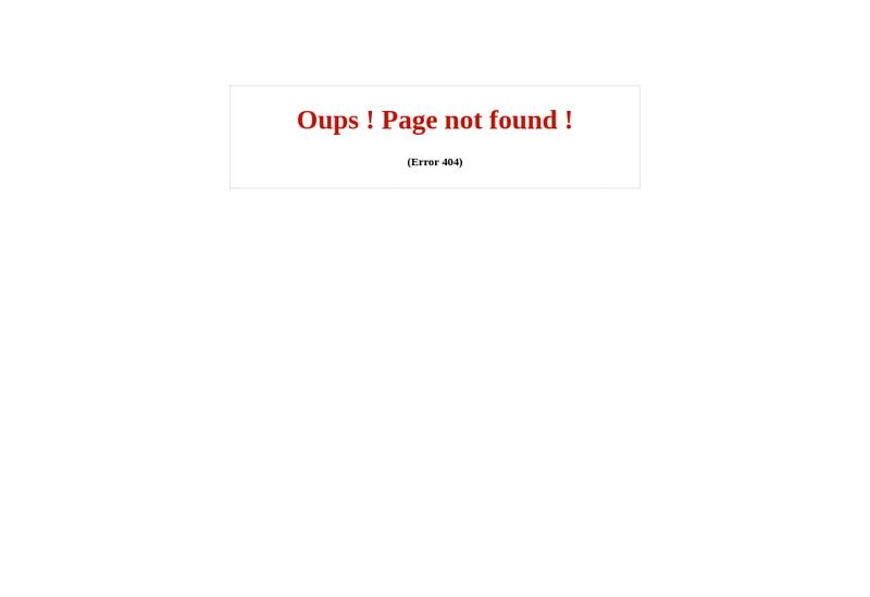 Capture d'écran du site de Dream Tech