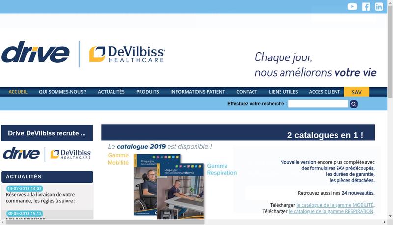 Capture d'écran du site de Dupont Medical Services