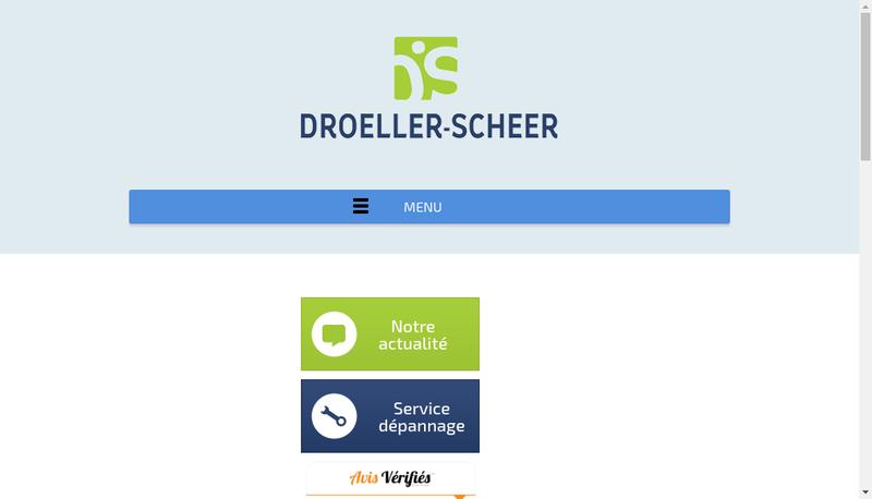Capture d'écran du site de SARL Droeller-Scheer
