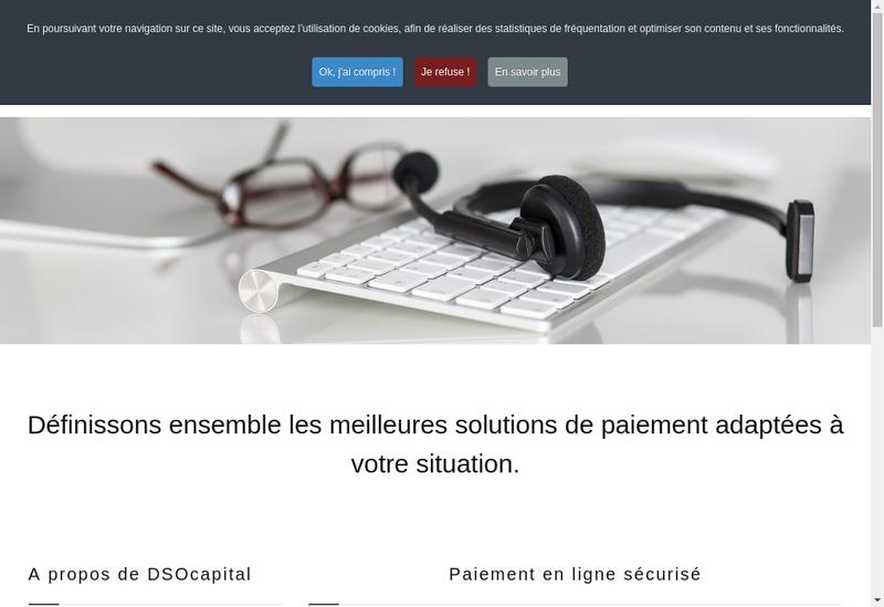 Capture d'écran du site de Dso Capital