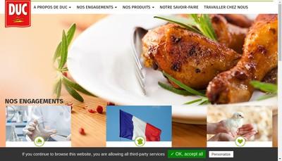 Site internet de Duc