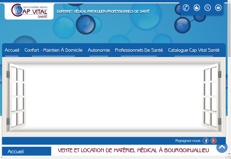 Capture d'écran du site de Duperret Medical