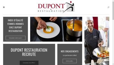 Site internet de Dupont Restauration