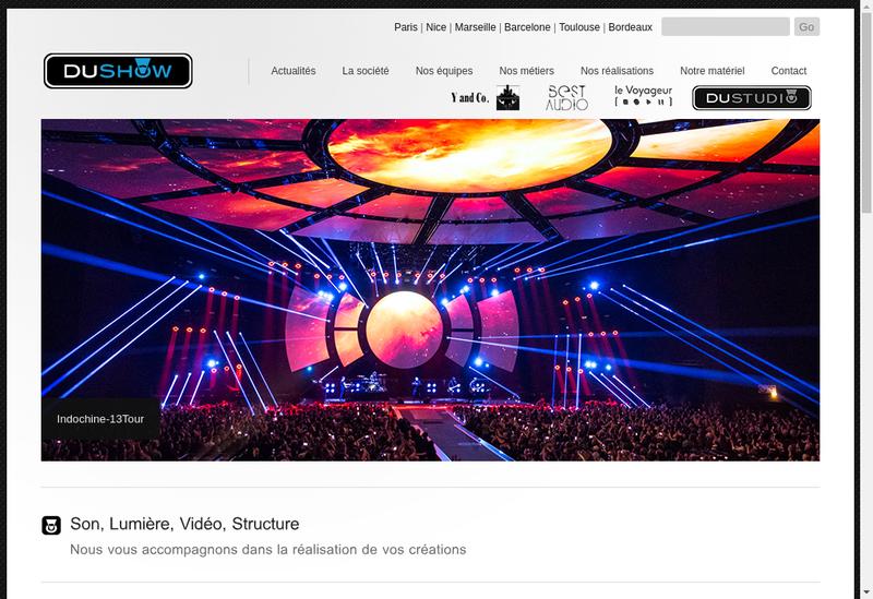 Capture d'écran du site de Groupe Dushow