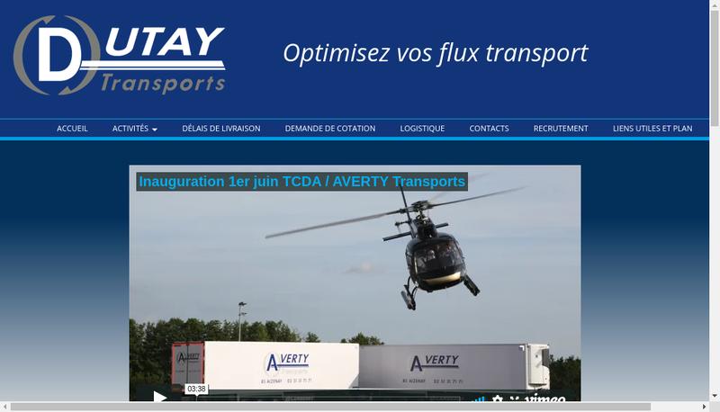Capture d'écran du site de Dutay Transports