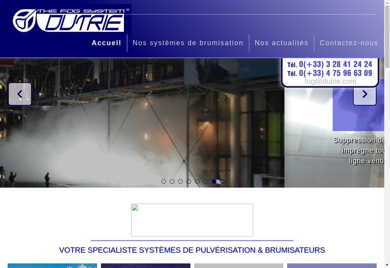 Capture d'écran du site de Dutrie SA