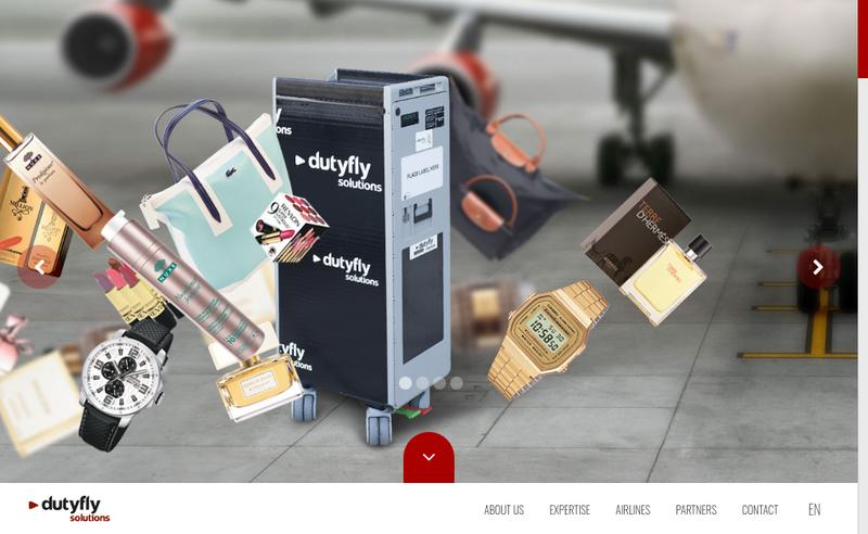 Capture d'écran du site de Dutyfly Solutions