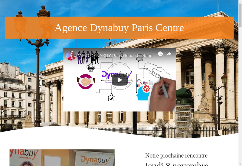 Capture d'écran du site de Dynabuy Paris Centre
