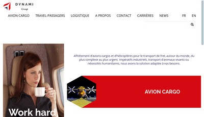 Site internet de Dynami Aviation