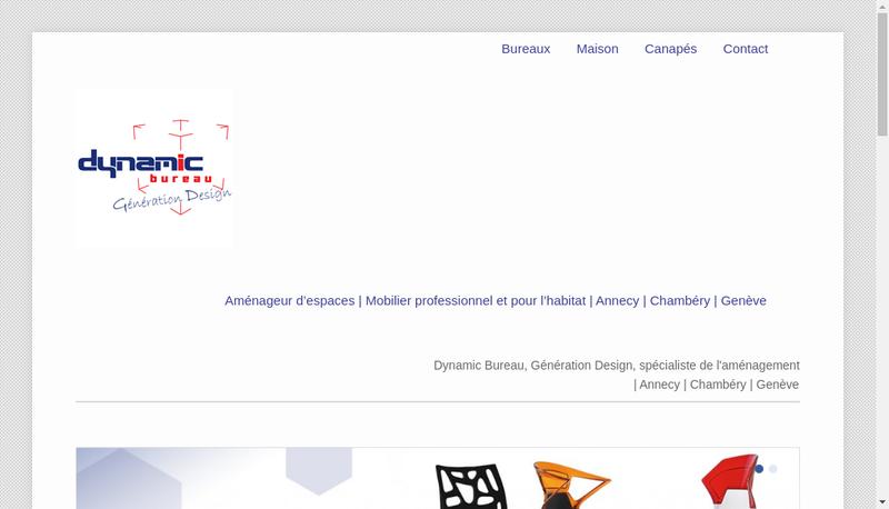 Capture d'écran du site de Dynamic Bureau