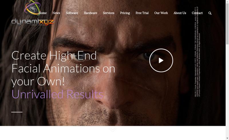 Capture d'écran du site de Dynamixyz