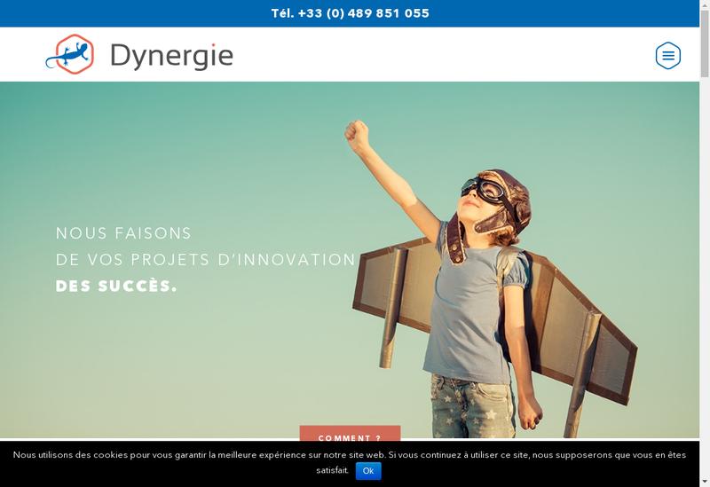 Capture d'écran du site de Dynergie