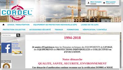 Capture d'écran du site de Corsere