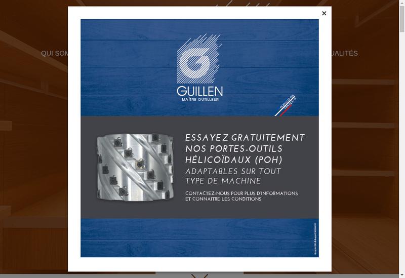 Capture d'écran du site de Guillen Outils Coupants