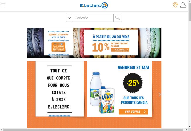 Capture d'écran du site de Centre Distributeur E Leclerc